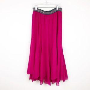Anthro Vanessa Virginia Colima Maxi Skirt Pink